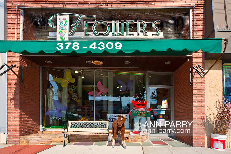 Flower Shop store exterior of Merrick Flower Shoppe, in Merrick, New York, USA
