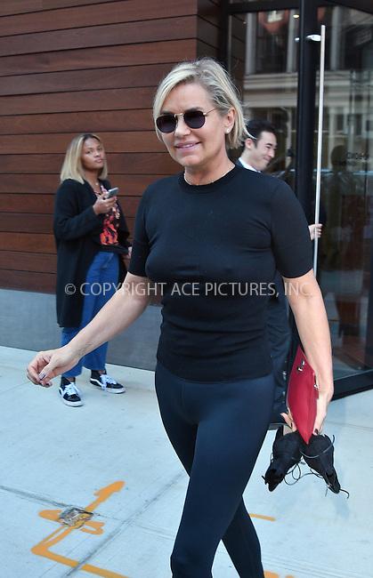 www.acepixs.com<br /> <br /> September 12 2016, New York City<br /> <br /> Yolanda Foster leaves her daughter Gigi Hadid's apartment on September 12 2016 in New York City<br /> <br /> By Line: Curtis Means/ACE Pictures<br /> <br /> <br /> ACE Pictures Inc<br /> Tel: 6467670430<br /> Email: info@acepixs.com<br /> www.acepixs.com