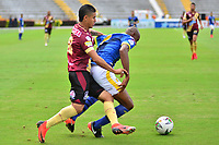IBAGUÉ- COLOMBIA,20-04-2019:Acción de juego entre los equipos Deportes Tolima y Alianza Petrolera  durante partido por la fecha 17 de la Liga Águila I 2019 jugado en el estadio Manuel Murillo Toro de la ciudad de Ibagué. /Action game between teams  Deportes Tolima and  Alianza Petrolera  during the match for the date 17 of the Liga Aguila I 2019 played at the Manuel Murillo Toro stadium in Ibague city. Photo: VizzorImage / Juan Carlos Escobar / Contribuidor