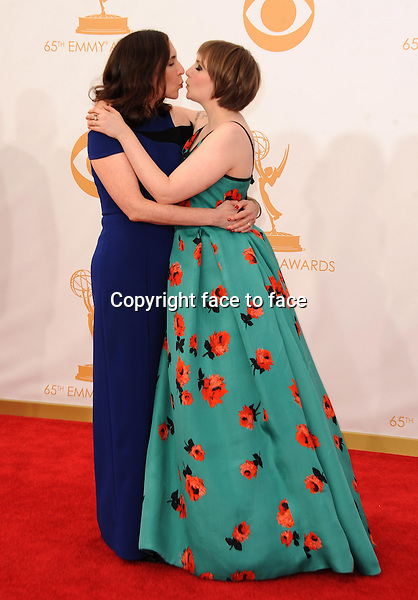 Laurie Simmons and Lena Dunham arrive at the 65th Primetime Emmy Awards at Nokia Theatre on Sunday Sept. 22, 2013, in Los Angeles.<br /> Credit: MediaPunch/face to face<br /> - Germany, Austria, Switzerland, Eastern Europe, Australia, UK, USA, Taiwan, Singapore, China, Malaysia, Thailand, Sweden, Estonia, Latvia and Lithuania rights only -