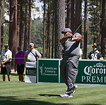 Jerome Bettis during the American Century Championship at Edgewood Tahoe Golf Course in Stateline, Nevada, Sunday, July 15, 2018.