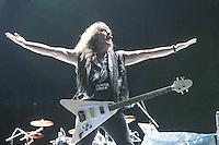 SAO PAULO, SP, 22.03.2014 - O guitarrista Mark Gallagher durante apresentação da banda Raven no estádio do Morumbi, em São Paulo, na noite deste sábado.(Foto: Vanessa Carvalho / Brazil Photo Press).