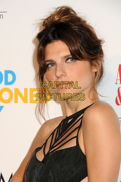 "Lake Bell.""A Good Old Fashioned Orgy"" Los Angeles Special Screening held at Arclight Cinemas, Hollywood, California, USA..August 25th, 2011.headshot portrait black hair up bun straps sleeveless .CAP/ADM/BP.©Byron Purvis/AdMedia/Capital Pictures."