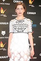Maria Leon attends the Feroz Cinema Awards 2015 at Las Ventas, Madrid,  Spain. January 25, 2015.(ALTERPHOTOS/)Carlos Dafonte) /NortePhoto<br /> <br /> nortePhoto.com