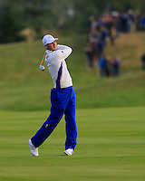 Martin Kaymer (EUR) on the 2nd during the Saturday Fourball Matches of the Ryder Cup at Gleneagles Golf Club on Saturday 27th September 2014.<br /> Picture:  Thos Caffrey / www.golffile.ie