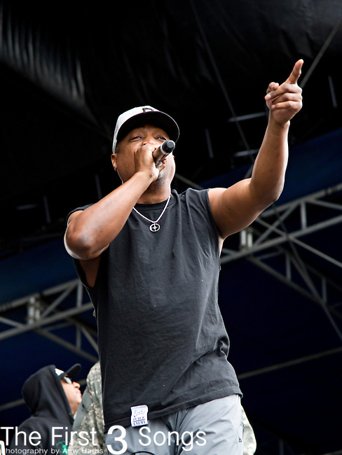 Chuck D (born Carlton Douglas Ridenhour) performs during the The Beale Street Music Festival in Memphis, Tennessee.