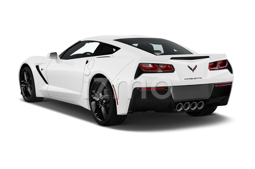 Car pictures of rear three quarter view of a 2018 Chevrolet Corvette Stingray 1LT 2 Door Coupe angular rear
