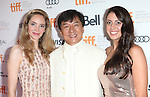 Laura Weissbecker, Jackie Chan and Caitlin Dechelle attending the The 2012 Toronto International Film Festival Red Carpet Arrivals for 'A Conversation with Jackie Chan' at the Princess of Wales Theatre in Toronto on 9/9/2012