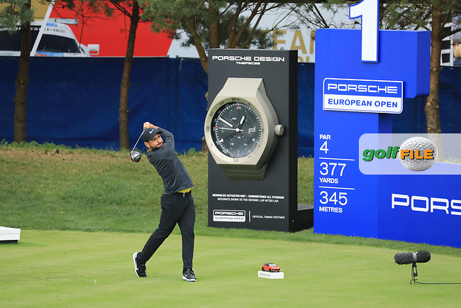 Alexander Levy (FRA) in action during the second round of the Porsche European Open , Green Eagle Golf Club, Hamburg, Germany. 06/09/2019<br /> Picture: Golffile   Phil Inglis<br /> <br /> <br /> All photo usage must carry mandatory copyright credit (© Golffile   Phil Inglis)
