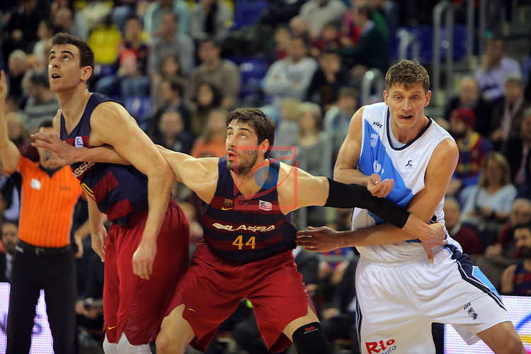 League ACB-ENDESA 2016/2017 - Game: 16.<br /> FC Barcelona Lassa vs Rio Natura Monbus Obradoiro: 100-76.<br /> Victor Claver, Ante Tomic &amp; Artem Pustovyi.