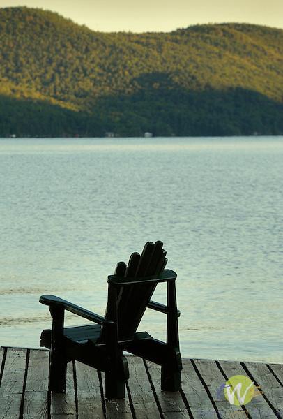 Adirondack chair on Lake George