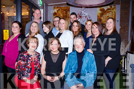Celebrations on a 40, Denise Flemming seated front centre enjoying celebration with her family in Benners Hotel.<br /> Seated l-r, Kay Lyons (Mom), Denise Flemmings and her dad Denis Lyons.<br /> Middle l-r, Susan Cleary, Dee Lyons, Zena Mitchell, Aoife Lyons, Orla Dooley, Marie Houlihan, Triona Lyons and  Dawn Mitchell. Back l-r, David Flemming, John O&rsquo;Connor and Anthony Hrano.