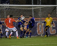 The number 24 ranked Furman Paladins took on the number 20 ranked Clemson Tigers in an inter-conference game at Clemson's Riggs Field.  Furman defeated Clemson 2-1.  Kevin Pahl (14), Michael Gandier (18), Marco Ortiz (13), Sven Lissek (1), Manolo Sanchez (8), Iain Smith (9)