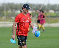 20180306 - LARNACA , CYPRUS :  Belgian assistant coach Kris Van Der Haegen pictured during a Matchday -1 training from The Belgian Red Flames prior to their game against South Africa , on tuesday 6 March 2018 at the Alpha Sports Grounds in Larnaca , Cyprus . This will be the final game for Belgium during the Cyprus Womens Cup for a battle for the 5th place , a prestigious women soccer tournament as a preparation on the World Cup 2019 qualification duels. PHOTO SPORTPIX.BE | DAVID CATRY