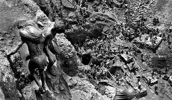Garimpo de Serra Pelada.<br /> Foto Paulo Santos<br /> 1984