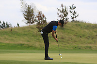 Sebastian Heisele (GER) on the 2nd green during Round 1 of the Bridgestone Challenge 2017 at the Luton Hoo Hotel Golf &amp; Spa, Luton, Bedfordshire, England. 07/09/2017<br /> Picture: Golffile | Thos Caffrey<br /> <br /> <br /> All photo usage must carry mandatory copyright credit     (&copy; Golffile | Thos Caffrey)