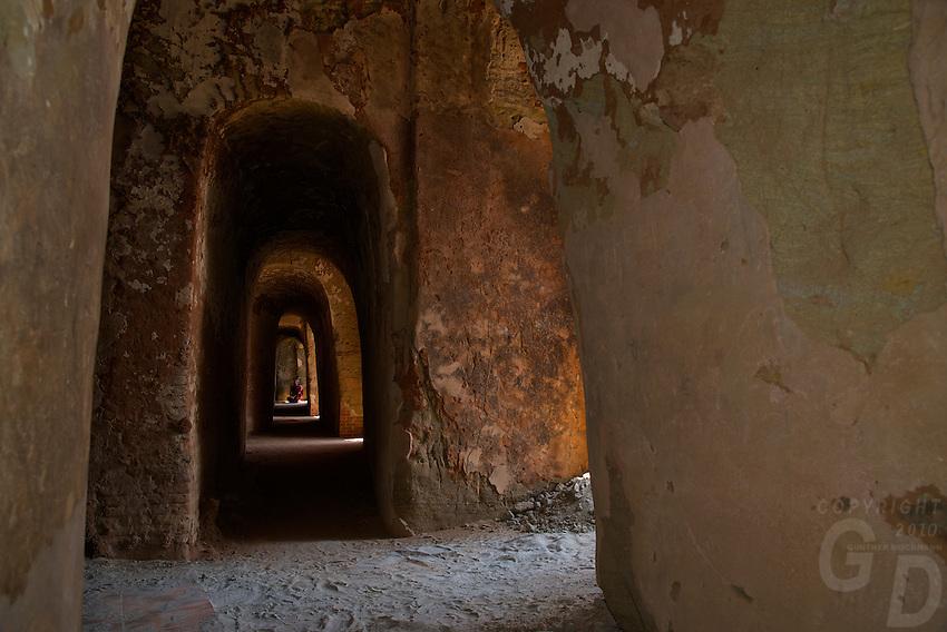 The hidden Thameewhetumin cave temple Bagan, Myanmar, Burma.