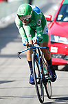 Green Jersey Alejandro Valverde (ESP) Movistar Team in action during Stage 16 of the La Vuelta 2018, an individual time trial running 32km from Santillana del Mar to Torrelavega, Spain. 11th September 2018.                    Picture: Unipublic/Photogomezsport | Cyclefile<br /> <br /> <br /> All photos usage must carry mandatory copyright credit (&copy; Cyclefile | Unipublic/Photogomezsport)