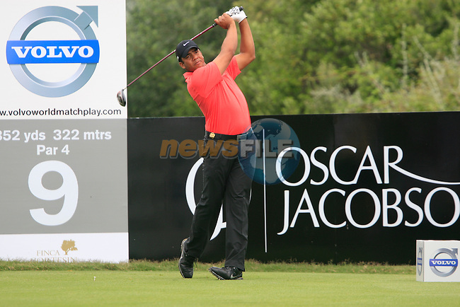 Jhonattan Vegas (VEN) tees off at the 9th tee during Day 2 of the Volvo World Match Play Championship in Finca Cortesin, Casares, Spain, 20th May 2011. (Photo Eoin Clarke/Golffile 2011)