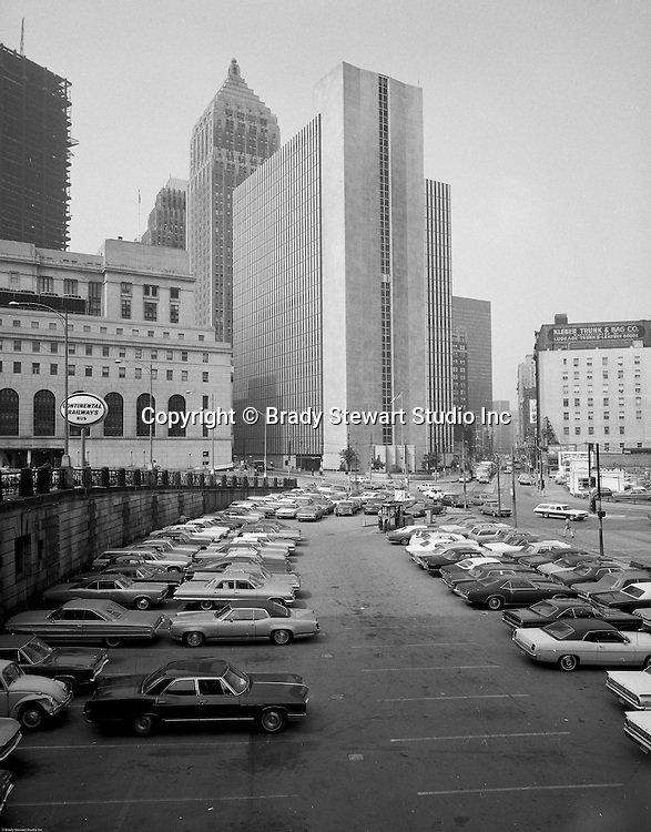 Pittsburgh PA - View of the William Moorhead Federal Building - 1969.  Photograph taken from the PA Railroad Station