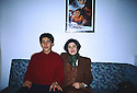 Turkey 1993 .Leyla Zana and her son Ronahi in Ankara.Turquie 1993.Leyla Zana et son fils Ronahi a Ankara