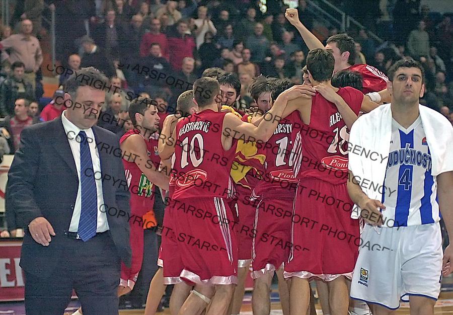 SPORT KOSARKA KUP RADIVOJA KORACA VRSAC BUDUCNOST REFLEKS REFLEX  Danilo Mitrovic i Milos Minic 19.2.2005. foto: Pedja Milosavljevic<br />