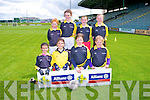 Caherdaniel NS pictured front l-r  Ellie Cournane, Anna Kate Cournana, Clodagh Graef, Isabelle O'Leary, back l-r Orla Fayen, Abbie O'Sullivan, Marie O'Sullivan, Siofra O'Shea at the Allianz Cumann Na mBunscol Girls finals at Austin Stacks Park Tralee on Tuesday