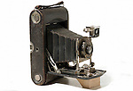 Old folding Kodak bellows camera.