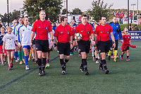Boston, MA - Friday August 04, 2017: Match officials during a regular season National Women's Soccer League (NWSL) match between the Boston Breakers and FC Kansas City at Jordan Field.