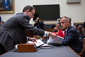 Former Campaign Manager of United States President Donald Trump's 2016 campaign Corey Lewandowski is given a copy of the Mueller report during the United States House of Representatives Committee on the Judiciary on Capitol Hill in Washington D.C., U.S. on September 17, 2019.<br /> <br /> Credit: Stefani Reynolds / CNP
