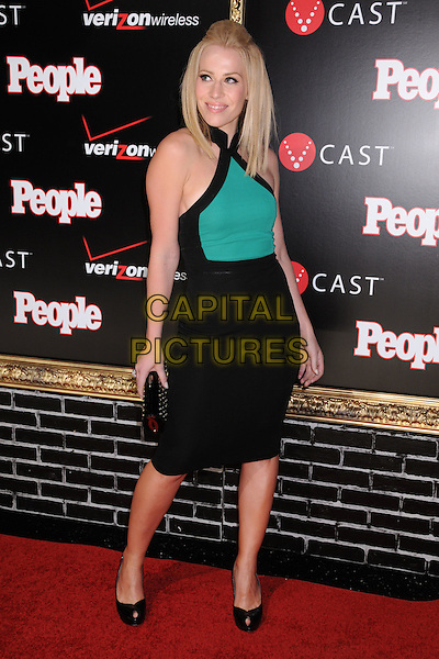 NATASHA BEDINGFIELD.Verizon Wireless & People Magazine's Pre Grammy Awards Party at Avalon, Hollywood, California, USA,.8 February 2008..full length green black dress halterneck hand on hip patent shoes quiff hair.CAP/ADM/BP.?Byron Purvis/Capital PIctures