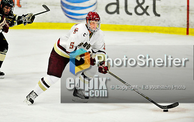 12 November 2010: Boston College Eagle defenseman Philip Samuelsson, a Sophomore from Scottsdale, AZ, in action against the University of Vermont Catamounts at Gutterson Fieldhouse in Burlington, Vermont. The Eagles edged out the Cats 3-2 in the first game of their weekend series. Mandatory Credit: Ed Wolfstein Photo