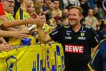 Trainer Martin Schwalb (Rhein Neckar Löwen) freut sich über den Sieg -beim Bundesliga-Spiel der Rhein Neckar Löwen gegen SC DHfK Leipzig am 03.03.2020 in der SAP Arena in Mannheim<br /> <br /> Foto © PIX-Sportfotos *** Foto ist honorarpflichtig! *** Auf Anfrage in hoeherer Qualitaet/Aufloesung. Belegexemplar erbeten. Veroeffentlichung ausschliesslich fuer journalistisch-publizistische Zwecke. For editorial use only.