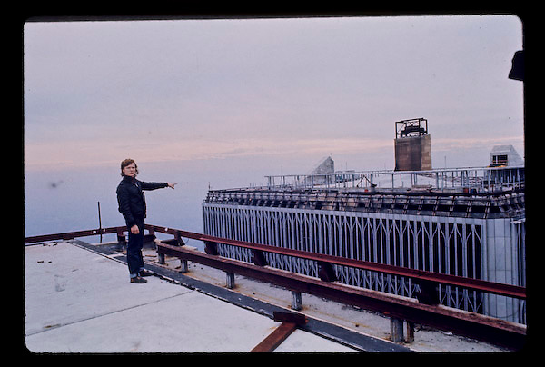 Petit pointing to South Tower of WTC
