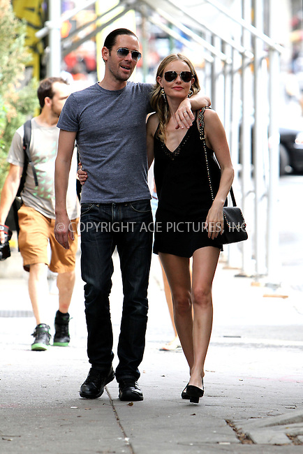 WWW.ACEPIXS.COM....September 6 2012, New York City....Actress Kate Bosworth and her fiance Michael Polish walk around Soho on September 6 2012 in New York City......By Line: Nancy Rivera/ACE Pictures......ACE Pictures, Inc...tel: 646 769 0430..Email: info@acepixs.com..www.acepixs.com