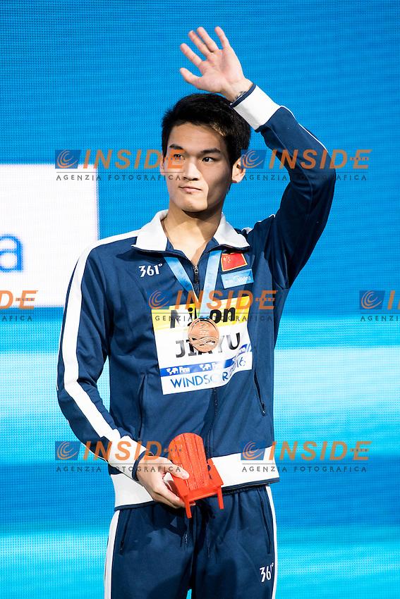XU Jiayu CHN Bronze Medal<br /> Men's 100m Backstroke<br /> 13th Fina World Swimming Championships 25m <br /> Windsor  Dec. 7th, 2016 - Day02 Finals<br /> WFCU Centre - Windsor Ontario Canada CAN <br /> 20161207 WFCU Centre - Windsor Ontario Canada CAN <br /> Photo &copy; Giorgio Scala/Deepbluemedia/Insidefoto