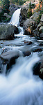 Alberta Falls, Glacier Creek, water, movement, Rocky Mountain National Park, Colorado, panorama