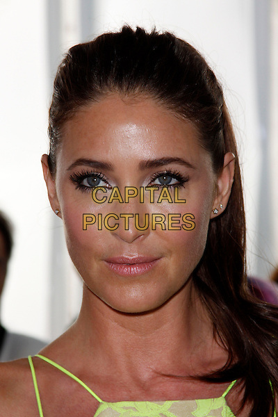 Lisa Snowdon<br /> Glamour Women Of The Year Awards, Berkeley Square Gardens, London, England. <br /> 4th June, 2013<br /> headshot portrait yellow<br /> CAP/AH<br /> &copy;Adam Houghton/Capital Pictures
