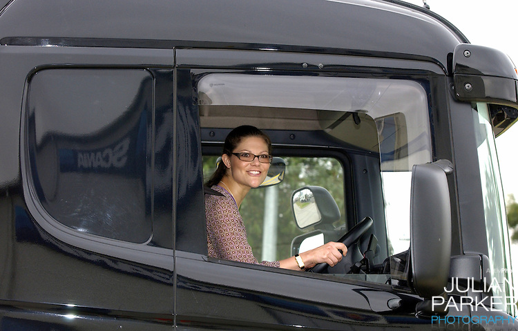 Crown Princess Victoria of Sweden visits the Scania Truck Centre in Melbourne, during her visit to promote 'Swedish Style In Australia'..