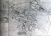 Paris: Plan of Paris--proposed squares, 1765. REPS, MONUMENTAL WASHINGTON, FIG. 5. Reference only.