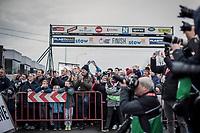 Podium view. <br /> <br /> 71st Kuurne-Brussel-Kuurne (2019)<br /> Kuurne > Kuurne 201km (BEL)<br /> <br /> ©kramon