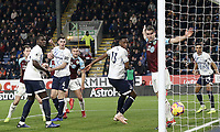 Burnley's Ben Gibson (No.14) scores his side's first goal  <br /> <br /> Photographer Rich Linley/CameraSport<br /> <br /> The Premier League - Burnley v Everton - Wednesday 26th December 2018 - Turf Moor - Burnley<br /> <br /> World Copyright &copy; 2018 CameraSport. All rights reserved. 43 Linden Ave. Countesthorpe. Leicester. England. LE8 5PG - Tel: +44 (0) 116 277 4147 - admin@camerasport.com - www.camerasport.com