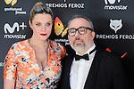 Carolina Bang and Alex de la Iglesia attends to the Feroz Awards 2017 in Madrid, Spain. January 23, 2017. (ALTERPHOTOS/BorjaB.Hojas)