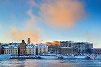 Kungliga slottet i Gamla Stan Stockholm. / Royal Castle in Stockholm town Sweden.
