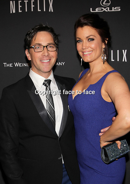 Beverly Hills, California - January 12: Dan Bucatinsky, Bellamy Young at The Weinstein Company &amp; Netflix 2014 Golden Globes After Party on January 12, 2014 at The Beverly Hilton Hotel, California. <br />