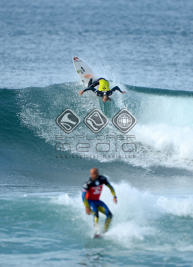 Owen Wright (AUS) <br /> Surfing - 2014 Rip Curl Pro / Finals<br /> (3rd stop on ASP World Championship Tour)<br /> Bells Beach, Victoria (Australia)<br /> Wednesday 23rd April 2014<br /> &copy; Sport the library/Jeff Crow