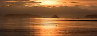 Sunrise over the BC coast.
