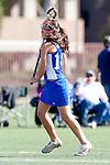 Santa Barbara, CA 02/13/10 - Lindsay Remigio (UCSB # 14)in action during the UCSB-Florida game at the 2010 Santa Barbara Shoutout, UCSB defeated Florida 9-8.