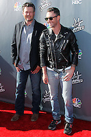"HOLLYWOOD, LOS ANGELES, CA, USA - APRIL 03: Blake Shelton, Adam Levine at the NBC's ""The Voice"" Red Carpet Event held at The Sayers Club on April 3, 2014 in Hollywood, Los Angeles, California, United States. (Photo by Xavier Collin/Celebrity Monitor)"