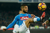 Lorenzo Insigne 1 during the  italian serie a soccer match,between SSC Napoli Sassuolo       at  the San  Paolo   stadium in Naples  Italy , November 28, 2016